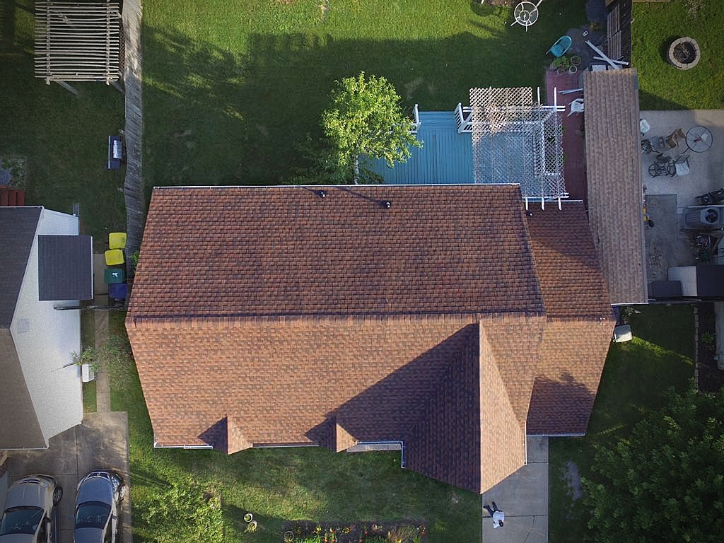 After: GAF Timberline HD shingles in 'Hickory'