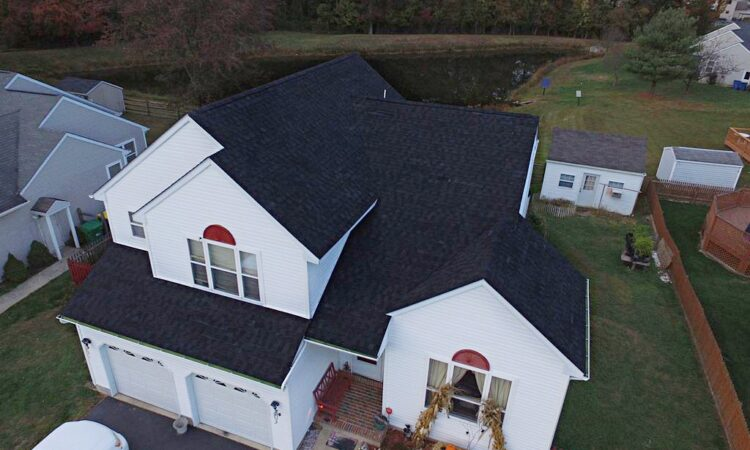 Roof-replacement-using-Tamko-Heritage-shingles-in-the-color-Rustic-Black